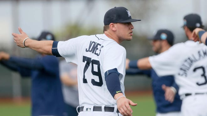 "JaCoby Jones, acquired from the Pirates in July, was docked 50 games by MLB for a ""drug of abuse."""