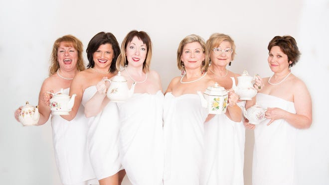 """The cast of """"Calendar Girls,"""" now at the Meadow Brook Theatre. The show runs through April 10."""