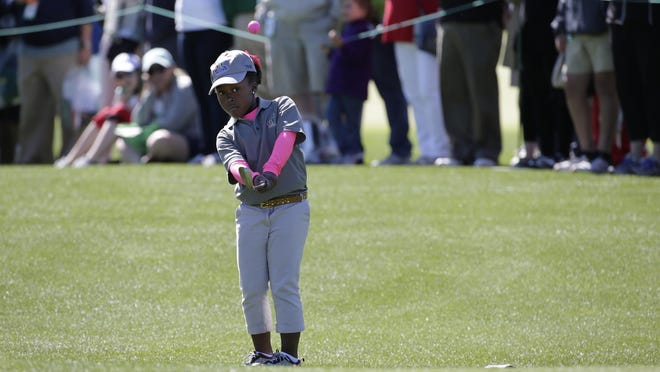 Lauryn Olivia Leonard, in the girls 7-9 age group, finished eighth in the Drive, Chip and Putt National Finals at Augusta National Golf Club on Sunday.