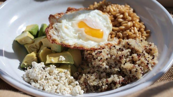 Grains. Avocado and grains breakfast bowl. Tuesday, March 29, 2016. Jessica J. Trevino/Detroit Free Press.