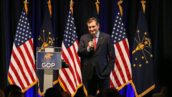 Sen. Ted Cruz speaks April 21, 2016, at the Indiana Republican Party Spring Dinner at Primo Banquet Center, Indianapolis.