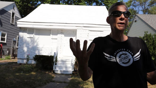 Near the corner of Lamphere and North Kane streets in Detroit  John O'Malley, 60, lives in the house he grew up in.