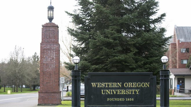 Western Oregon University campus in Monmouth.