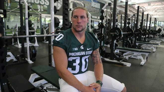 MSU linebacker Riley Bullough will get plenty of playing time this season at linebacker, where as many as 6-8 players could be good enough to start.