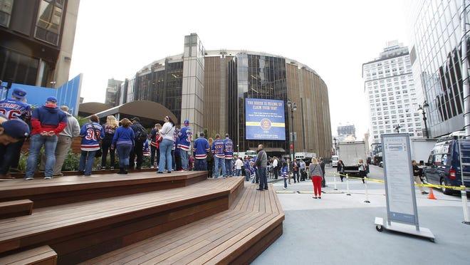 Madison Square Garden in Manhattan.