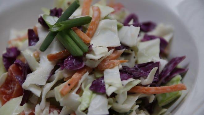Test kitchen coleslaw Friday April 21, 2017.