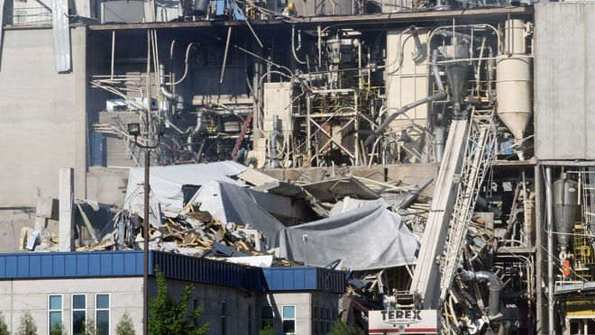 An explosion ripped through a corn mill plant at the Didion Milling complex in Cambria on May 31. Three workers died in the blast. A fourth died several days later in the hospital from injuries sustained in the blast. About a dozen workers at the plant were injured.