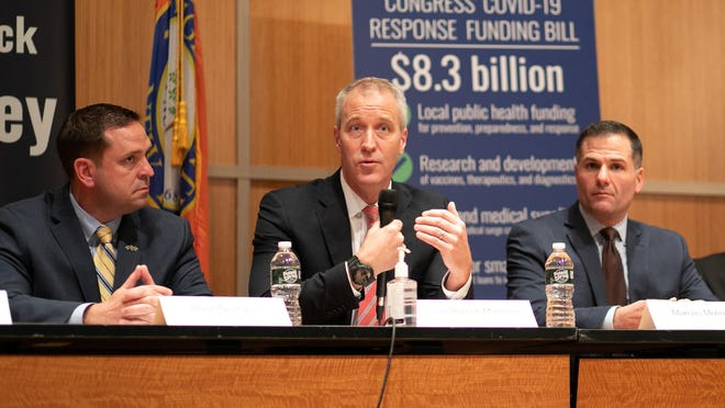 Rep. Sean Patrick Maloney on Friday praised the $8.3 billion approved by Congress and President Trump to track and contain COVID-19, but said testing kits need to be more widely available.