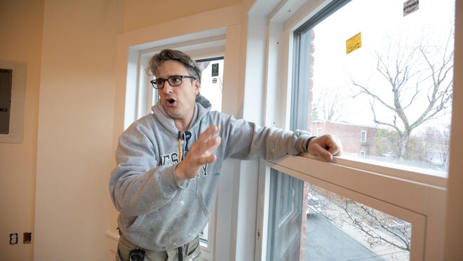Michael Robinson talks about a housing project on North Miller Street in the City of Newburgh. The former multi-family home is being transformed into three apartments designed to be energy efficient, keeping utility costs close to $0 year-round.