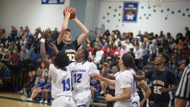 Pine Bush senior Chris Cain, the Varsity 845 player of the year, took his game to the next level this season, doubling his statistics in scoring, rebounding and blocks from a year ago.