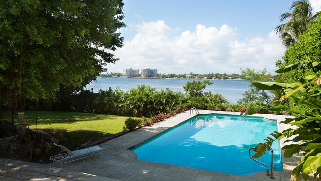 A photo taken before this summer's sale of the property at 756 Hi Mount Road shows the backyard with a pool and the view of the Intracoastal Waterway.