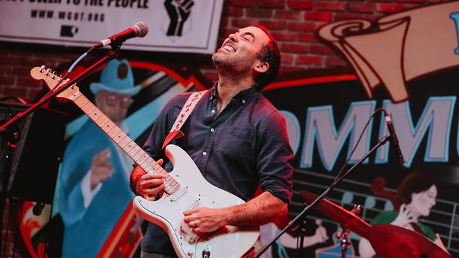 """Singer-guitarist Travis Atria, shown performing with the group Morningbell in the city of Gainesville's Free Fridays Concert Series, played one of the first livestreaming concerts presented by the city in its new Friday night """"Gainesville Live!"""" series on May 8."""