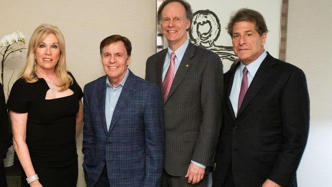Michele Kessler, Bob Costas, Dr. William G. Kaelin and Howard Kessler