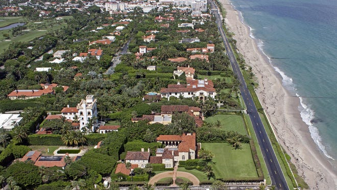 Palm Beach is ranked 18th on Bloomberg's latest list of the richest places in the country, based on U.S. Census data for average household income. Last year, the town landed in the 34th slot.