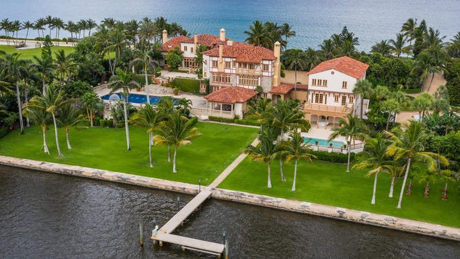 The  former estate of the late A. Alfred Taubman at 1820 S. Ocean Blvd. in Palm Beach has changed hands for $46.75 million, the price recorded with the deed. The landmarked ocean-to-lake estate, known as Collado Hueco, comprises 3.3 acres.