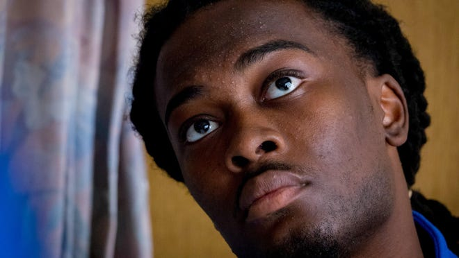 Dontrell Stephens in 2019 while being treated for bedsores at Bethesda Hospital East in Boynton Beach.