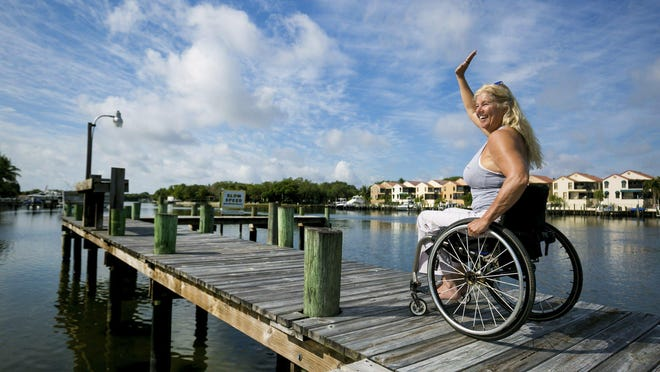Jacqui Kapinowski, a two-time Paralympian shown here in this 2019 photo,  is running a food drive in Tequesta this weekend.