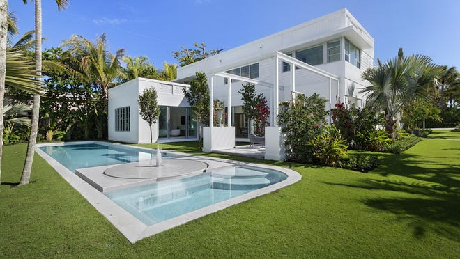 This Palm Beach house was developed on speculation by Todd Michael Glaser with seven bedrooms at 111 Atlantic Ave. It just sold for a recorded $10.665 million.