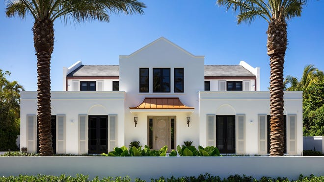 A contemporary-style house with Dutch Colonial architectural influences has changed hands for a recorded $6.75 million at 152 Dolphin Road on the North End of Palm Beach. The sellers, Dr. Joseph and Andrea Huainigg, built the house as a custom home.