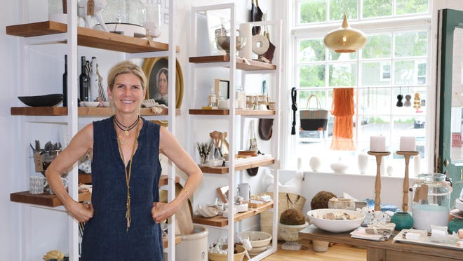 Kim Wald, owner and operator of Wald & Sea at 107 Spring St. in Newport, offers a mixture of home products, women's accessories like jewelry and handbags, and gifts for men.