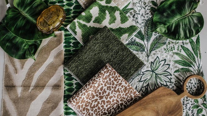 When introducing daring patterns and textures in the same look, it can quickly go from maximalist chic to loud mess. The key is adding simple linens and muted, warm neutrals to the mix.
