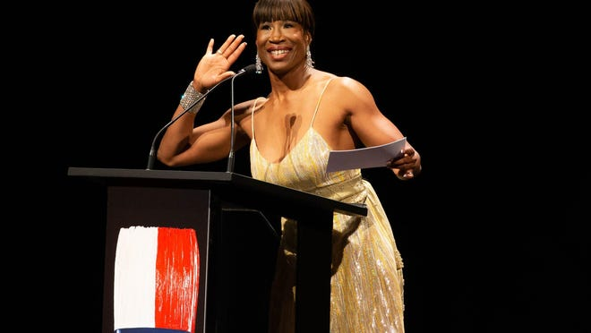 Megastar ballerina Lauren Anderson emceed the Texas Medal of Arts Awards ceremony at the Long Center in 2019.