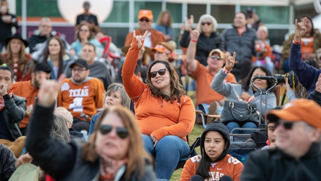 Texas fans gather for a watch party last fall. This fall semester, student parties will be banned amid the coronavirus pandemic.