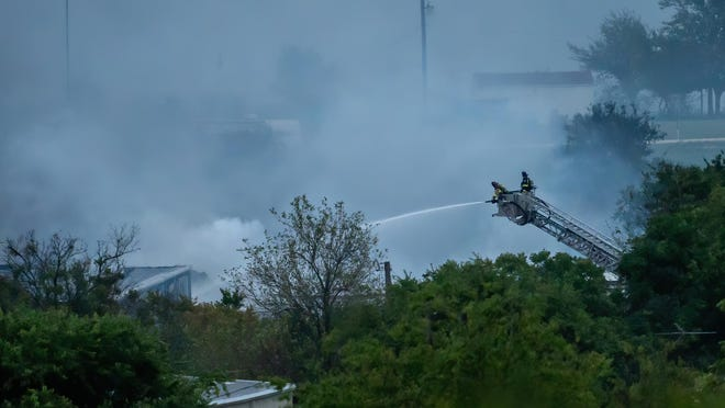 A chemical plant fire just south of Walburg at the CPI Products plant is 99% contained, an official said.