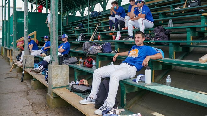 Players didn't use the traditional dugouts at Cardines Field, instead watching the game from the stands.