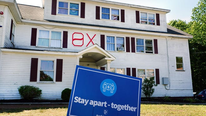 The Theta Chi fraternity on Strafford Avenue in Durham was the site of a recent party that didn't follow University of New Hampshire social distancing guidelines amid the coronavirus pandemic.
