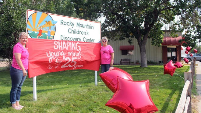 """Sharyl Boehm (left) and Cheryl Gould are celebrating 25 years of """"Shaping young minds,"""" at the Rocky Mountain Children's Discovery Center in Canon City."""