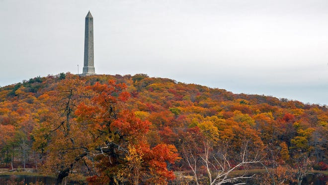 High Point State Park offers a multitude of trails for hikers from beginner to advanced. The park's monument, above, honors New Jersey's war veterans and stands atop the highest point in the state.