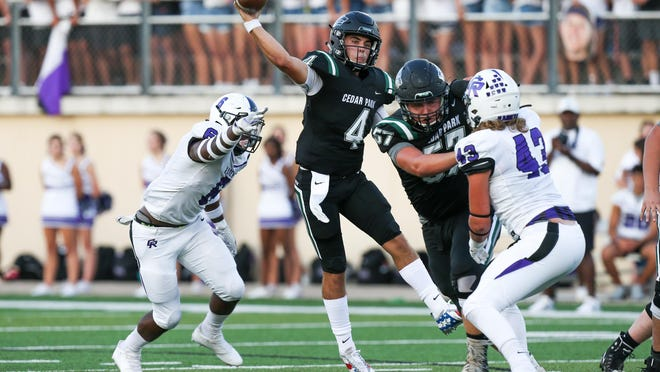 Quarterback Ryder Hernandez leads a loaded Cedar Park squad into the season, which kicks off this week for Class 5A and 6A schools.