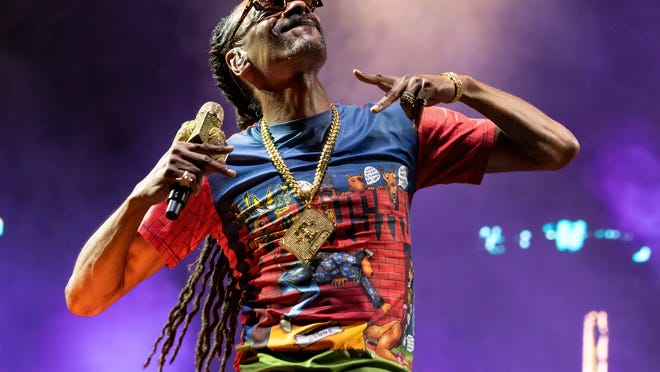 OG rapper Snoop Dogg, seen here at the Brush Creek Amphitheater in Hutto in September 2020, will return to Central Texas to headline a gig at the HEB Center on Thursday.
