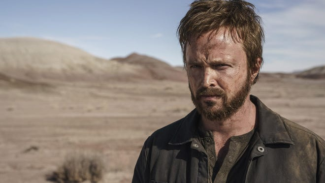 "Aaron Paul resumes his role as Jesse Pinkman -- from the TV series ""Breaking Bad"" -- in ""El Camino: A Breaking Bad Movie."""