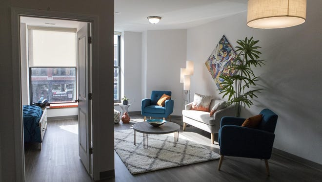 A view of one of the renovated Amsden Apartments on Kendall Street in Framingham, which opened in March 2019.