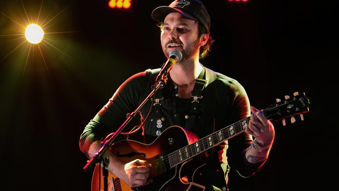 Singer-songwriter Shakey Graves performs onstage during a Love & Lightstream drive-in concert at the Haute Spot on November 13, 2020 in Cedar Park, Texas.