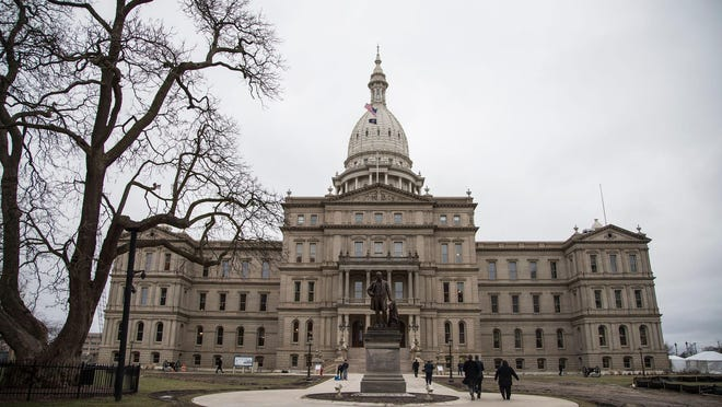 Michigan State Capitol in Lansing is pictured Jan. 23, 2018.
