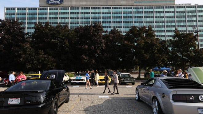 Ford Motor Company held an event celebrating the 10,000,000 Mustang built at the Ford Motor Company World Headquarters in Dearborn on in August 2018. An estimated 32,000 Ford employees throughout North America learned Thursday they will remain working from home through June, a company official confirmed to the Free Press.
