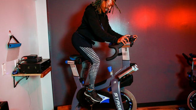 Amina Daniels, owner of  Live Cycle Delight went away to Clark University and lived in New York before moving back to Detroit to open her business, Live Cycle Detroit, photographed on Wednesday, June 17, 2020.