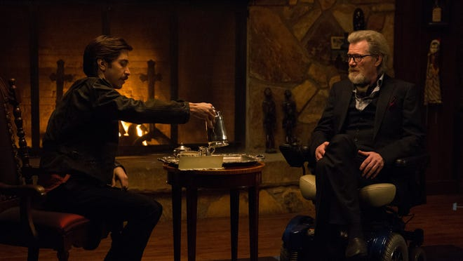 """Justin Long and Michael Parks in """"Tusk."""""""