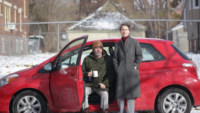Jay Clark Reid, 45, moved to Detroit with his wife, Ida Nilsen, 34, two years ago and bought a home in southwest Detroit. They were shocked by the auto insurance quote they received for $500 per month. In Toronto, they paid $180 a month.