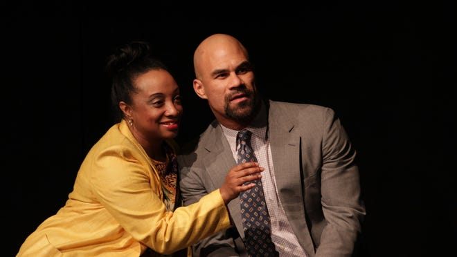 """Casaundra Freeman and Jonathan West in Performance Network Theatre's production of """"Yellowman."""""""