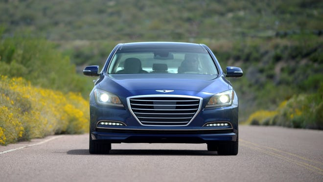 """2015 Hyundai Genesis: """"The Hyundai Genesis is a very, very good car, but it's not where you'd expect dynamically,"""" says Bill Visnic, Edmunds.com senior analyst."""