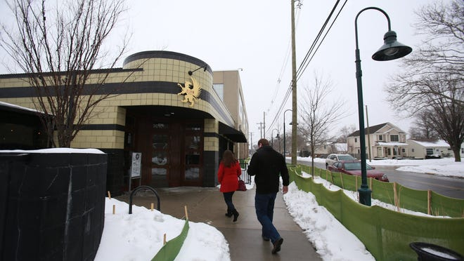 The Griffin Claw Brewing Co., a micro-brewery in Birmingham, Mich. photographed on Saturday, Feb. 21, 2015. On Monday, the brewery will ask the city for permission to expand their beer garden and build a whiskey storage area in the parking lot that worries the residents that live across the street from the brewery.