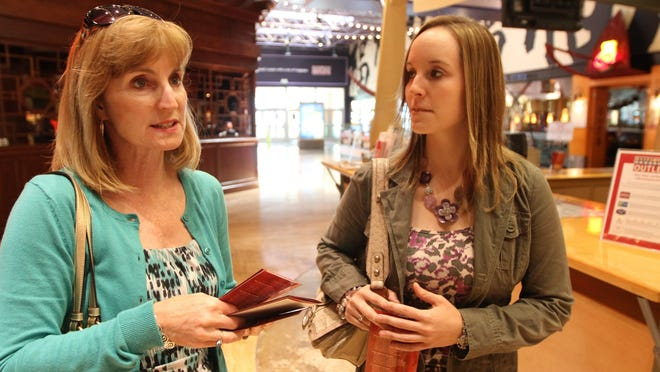 A Canadian mother and daughter visited Great Lakes Crossing Outlets in 2012 and spoke about the advantages Canadians then enjoyed shopping in the U.S.