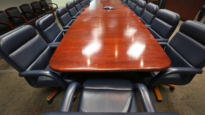 A corporate boardroom.