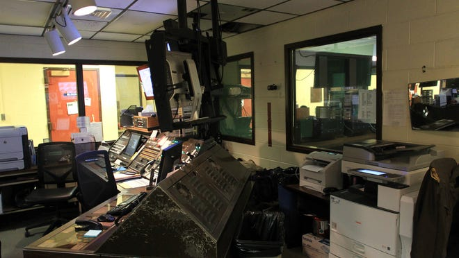 Johnson County Jail's control room is seen on Wednesday, March 25, 2015. The control room is just one part of the jail that will be renovated as part of a $1.47 million update.