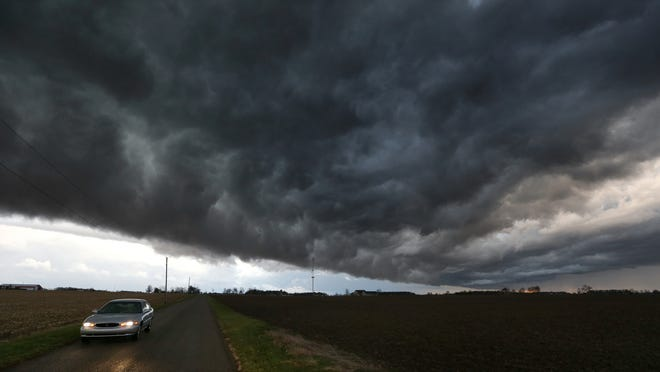 This storm touched down as a tornado in Indiana.
