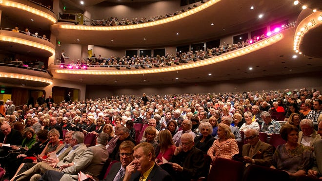 In this Feb. 19 file photo, the crowd waits for Bernadette Peters to perform at the McCallum Theatre in Palm Desert.